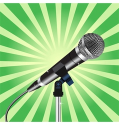 Microphone cord Rays zoom 3 vector image vector image