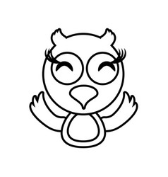owl animal toy outline vector image