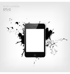 Realistic detalized flat smartphone with abstract vector image vector image