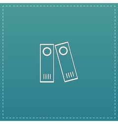 Row of binders icon vector image