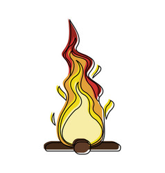 bonfire isolated symbol vector image