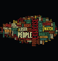 Lessons from the biggest loser text background vector