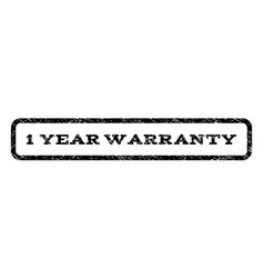 1 year warranty watermark stamp vector
