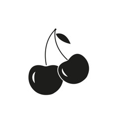 A cherry icons of the ecology berry vector