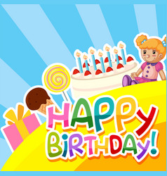 a colourful birthday template vector image