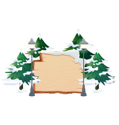a winter theme banner vector image