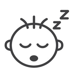 Baby boy sleep line icon child and infant vector