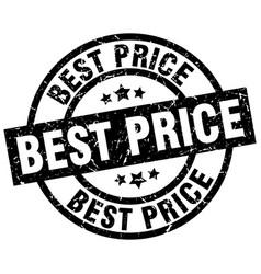 Best price round grunge black stamp vector
