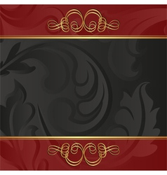 Black and red background vector