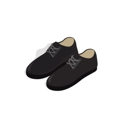 Black male shoes con isometric 3d style vector