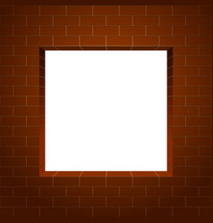 brick wall square frame vector image