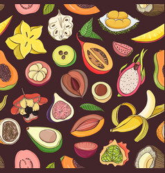 bright colored seamless pattern with edible fresh vector image