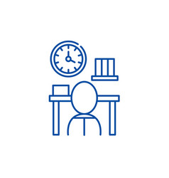 Bureaucracy line icon concept bureaucracy flat vector