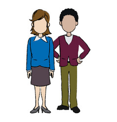 business man and woman executive managers success vector image