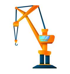 Cabine crane icon cartoon style vector