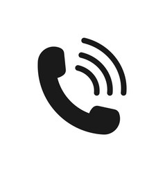 Call icon symbol phone receiver and contact vector