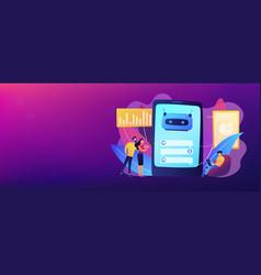 Chatbot customer service concept banner header vector