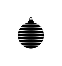 christmas ball icon flat design best icon vector image