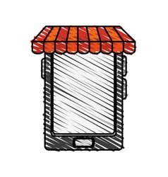 Color crayon stripe cartoon business on line vector