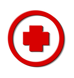 Cross red hospital medical signsymbol for mobile vector