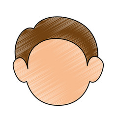 Cute adult face vector