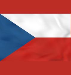 Czech republic waving flag czech republic vector