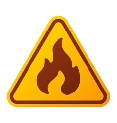 Danger fire warning attention sign icon vector image