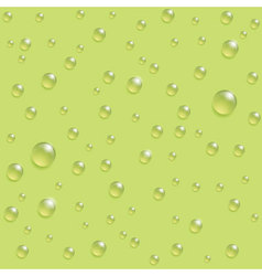 drops seamless pattern on the green background vector image