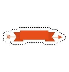 elegant frame with ribbon vector image