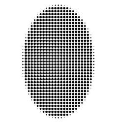 Filled ellipse halftone icon vector