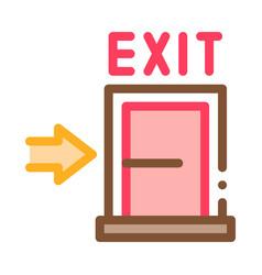 fire-escape exit door icon outline vector image