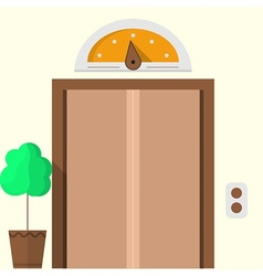 Flat icon for hotel Closed elevator vector image