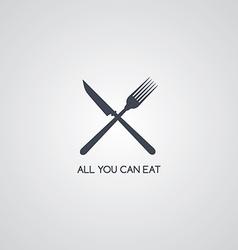 fork knife restaurant logotype vector image