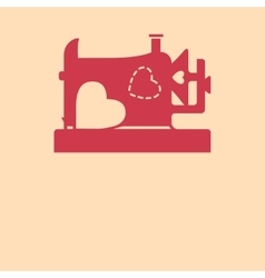 From sewing machine with love vector image