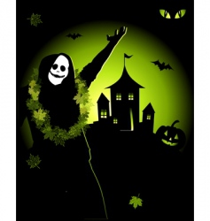 halloween night holiday vector image