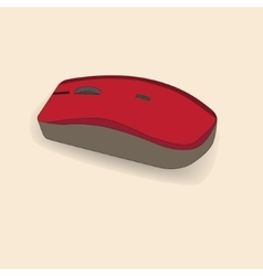 Hand drawn computer mouse vector
