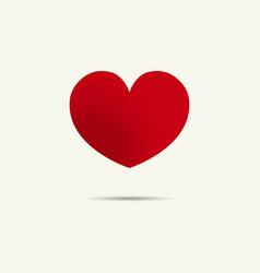 heart icon holiday logo flat eps vector image