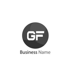 Initial letter gf logo template design vector
