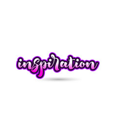inspiration calligraphic pink font text logo icon vector image