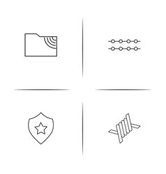 internet technologies simple linear icon vector image