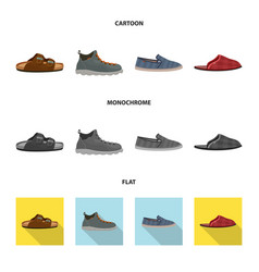 Isolated object of shoe and footwear icon set of vector