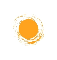 isolated sun logo design template Abstract vector image vector image
