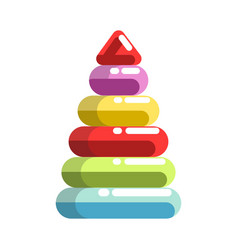 Kid toy children plaything pyramid constructor vector