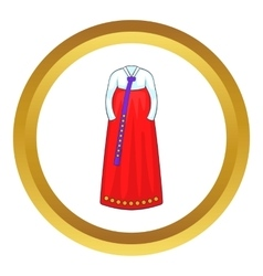 Korean traditional dress icon vector image