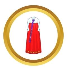 Korean traditional dress icon vector