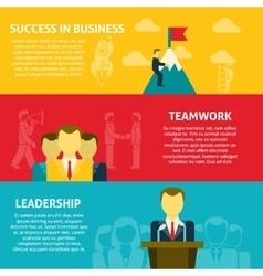 Leadership horizontal banners set vector image
