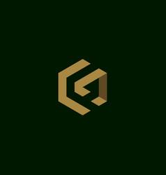 Letter g initial symbol logo design vector