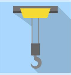 lift crane hook icon flat style vector image