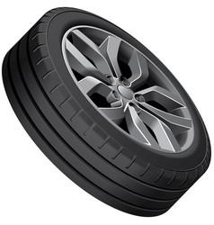Light alloy wheel vector