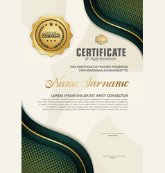 Luxury vertical modern certificate template vector